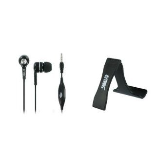 EMPIRE Motorola ATRIX HD MB886 3.5mm Stereo Hands Free Headset Headphones (Black) + Mini Folding Stand [EMPIRE Packaging] Cell Phones & Accessories