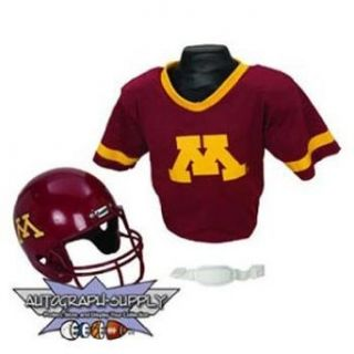 Minnesota Golden Golphers NCAA Football Helmet and Jersey Set Clothing