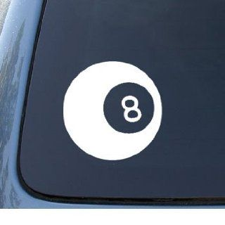 EIGHT BALL   Billiards 8 ball   Car, Truck, Notebook, Vinyl Decal Sticker #1085  Vinyl Color White Automotive
