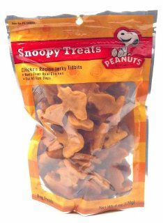 Peanuts Snoopy Treats Chicken Recipe Jerky Tidbits Made From Real Chicken for All Size Dogs 6 Oz. (1 Each)  Pet Jerky Treats
