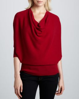 Oversized Cowl Neck Cashmere Sweater, Womens