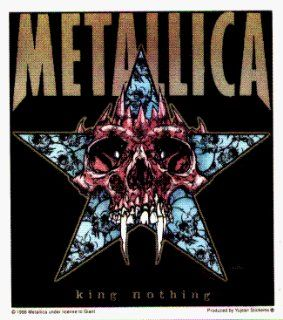 Metallica   King Nothing (Skull with Fangs & Star)   Sticker / Decal Automotive