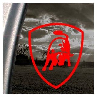 Lamborghini Red Decal Logo Bull Car Truck Window Red Sticker Automotive