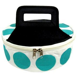 Round Insulated Pie/Cassarole Carrier   Turquoise Polka Dot Casseroles Kitchen & Dining