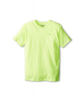 Hurley Kids Icon Premium Heather Tee Boys Short Sleeve Pullover (Yellow)