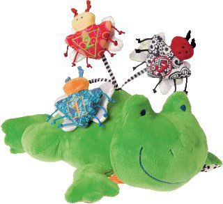 Mary Meyer Brainy Baby Fun Time Activity Plush Toy, Frog  Brainy Baby Bug  Baby