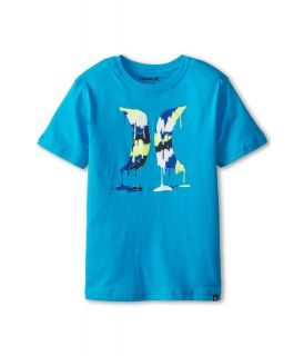 Hurley Kids Drippy Tee Boys Short Sleeve Pullover (Blue)