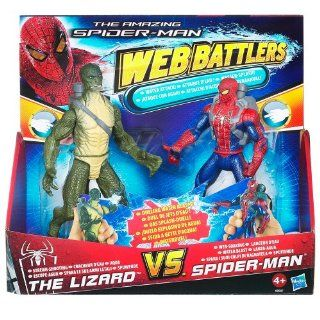 Amazing Spider man   Web Battlers  Spiderman V Lizard Water Attack 2 Pack   6 Inch Action Figures Toys & Games