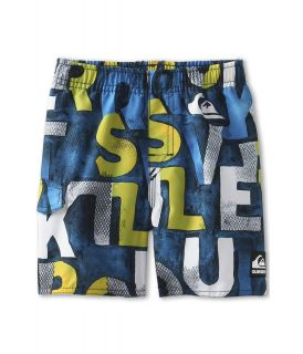 Quiksilver Kids Inked Volley Short Boys Swimwear (Navy)