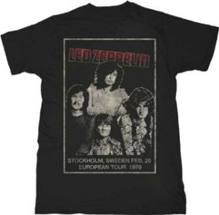 Led Zeppelin Stockholm Lightweight Mens Black T shirt Clothing
