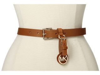 MICHAEL Michael Kors 20MM Belt w/ Buckle And Removable Luggage Tag Womens Belts (Brown)