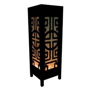 Thai Wood Lamp Handmade Oriental Classic China Black White Bedside Table Lights or Floor Home Decor Bedroom Decoration Modern Design   Flower Lamp
