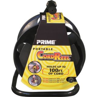 Prime Wire & Cable Portable Cord Reel with Metal Stand — Model# CR003000  Cord Reels