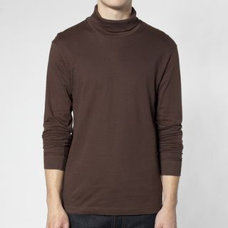 American Apparel Fine Jersey Long Sleeve Turtleneck (XL) American Apparel Casual Shirts