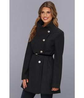 Jessica Simpson Fencer Collar w/Hard Bow Belt Coat