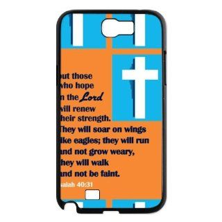 Samsung Galaxy Note 2 N7100 Cover with Christian Theme   Isaiah design Durable case Cell Phones & Accessories