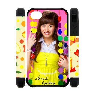 Pop Rock Singer Demi Lovato Iphone 4 4S Cool Custom Dual Protect Cover Case Cell Phones & Accessories