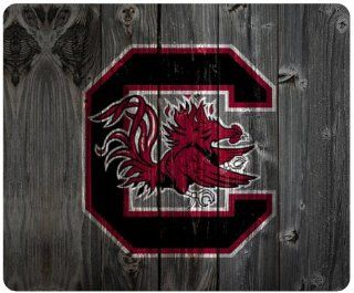 Nicase South Carolina Gamecocks Wood Background Theme Mousepad, Customized Rectangular Mouse Pad