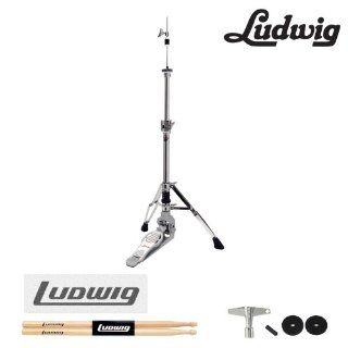 Ludwig Atlas Pro Hi Hat Stand Kit (LAP16HH)   Includes Drumsticks, Ludwig Decal, Drum Key & Extra Felts and Sleeve Musical Instruments