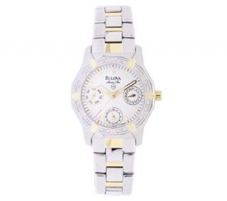 Bulova Ladies Marine Star Two tone Diamond Accent Watch —