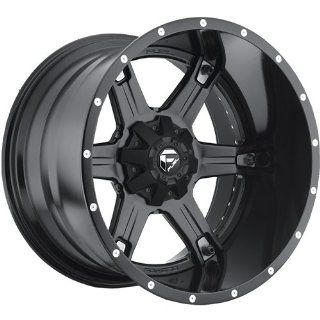 Fuel Driller 20 Black Wheel / Rim 5x4.5 & 5x5.0 with a  44mm Offset and a 78.1 Hub Bore. Partnumber D25620202647 Automotive