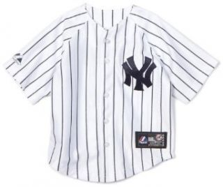 MLB Infant/Toddler Boys' New York Yankees Derek Jeter Button Down Jersey with Name & Number (Navy, 5/6)  Infant And Toddler Sports Fan Apparel  Sports & Outdoors