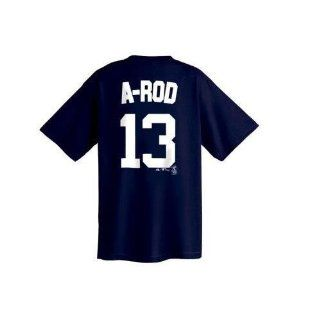 Alex Rodriguez New York Yankees Big & Tall Name and Number T Shirt (5XT)  Sports Fan T Shirts  Sports & Outdoors
