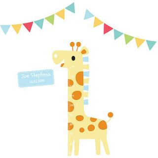 personalised childrens height chart stickers by parkins interiors