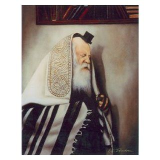 """R' Yiddelle of Dzikov Davening"" Wood Backed Painting By Tiefenbrun Art Collection  Prints"