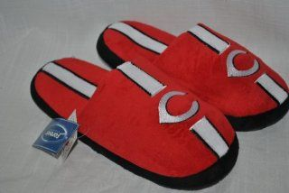 CINCINNATI REDS MLB OFFICIAL LOGO SLIDE SLIPPERS SZ L