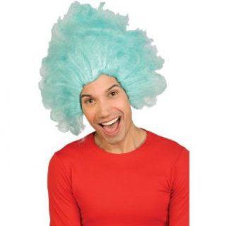 Dr Seuss Thing 1 or Thing 2 Wig (blue) Adult Halloween Costume Accessory Clothing