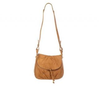 Lucky Brand Leather Crossbody Bag with Tie Detail —