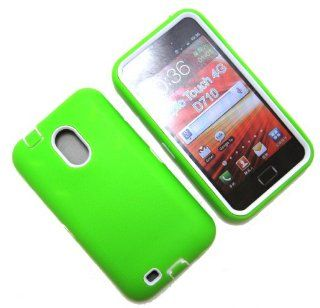 Cell Nerds Dual Protection Case Cover, Bright Green Silicone and White Inner Plastic, for The Samsung Galaxy S2 from Sprint, Virgin Mobile (SPH D710), US Cellular (SCH R760) & Boost Mobile   Cell Nerds Packaging Cell Phones & Accessories