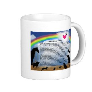 Rainbow Bridge Poem Coffee Mugs
