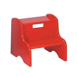 Child's Classic Wooden Step Stool in Red  Nursery Step Stools  Baby