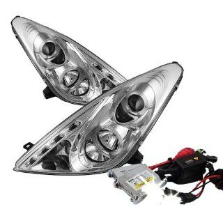 High Performance Xenon HID Toyota Celica Halo LED ( Non Replaceable LEDs ) Projector Headlights with Premium Ballast   Chrome with 4300K OEM White HID Automotive
