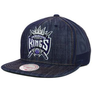 Sacramento Kings Mitchell and Ness NBA Denim Trucker Hat