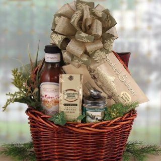 Summer Sausage and Smoked Salmon Men's Gourmet Gift Basket for Him  Birthday Gift Idea
