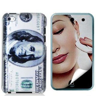 Hundred Dollars 2D Design Crystal Hard Skin Case Cover + Mirror LCD Screen Protector Film Guard Accessories for Ipod Touch 4th Generation 4g 4 8gb 32gb 64gb New By Electromaster Cell Phones & Accessories
