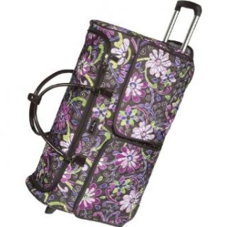 Vera Bradley Luggage 26 Rolling Duffel Bag Purple Punch Clothing