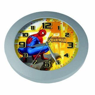 "The Amazing Spider Man   Wall Clock (Spider Sense) (Spidey Crouching On Gargoyle) (Size 10"" in diameter)   Noiseless Clock"