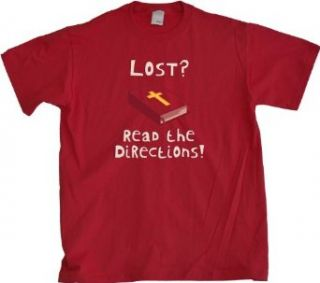 Ann Arbor T shirt Co. Men's LOST? READ THE DIRECTIONS T shirt Clothing
