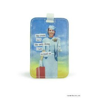 the oven isn't the only thing I left turned on Luggage Tag by Anne Taintor Clothing