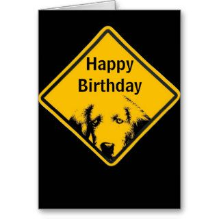 Puppy Road Sign Happy Birthday Card