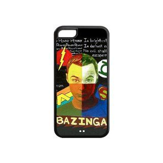 "The Big Bang Theory Sheldon Lee Cooper""Bazinga"" Case Cover for iPhone 5C Cell Phones & Accessories"