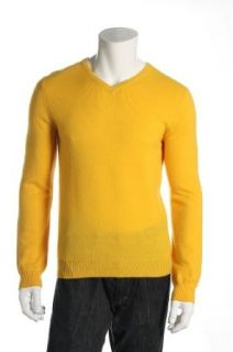Baruffa Men's Yellow V Neck Sweater at  Men�s Clothing store