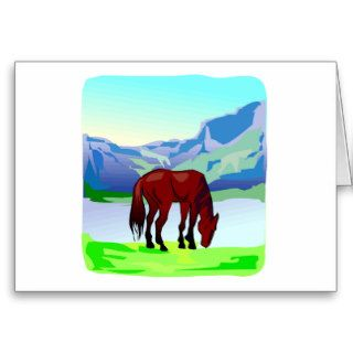 Horse and Mountain Scene Cards