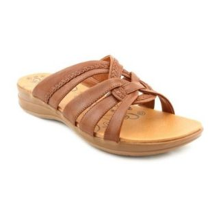 Baretraps Jargon Womens Open Toe Leather Slides Sandals Shoes Shoes