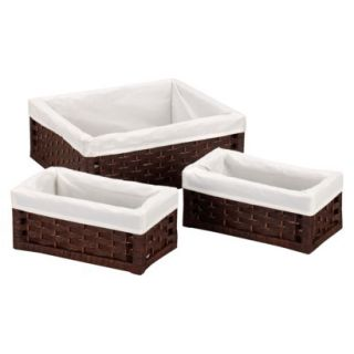 Household Essentials Set of 3 Large Stained Util