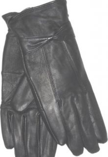 4fmg2.083, Genuine Black Soft Leather Microfiber Lined Very Soft and Luxurious Looking Gloves for Women Size Large